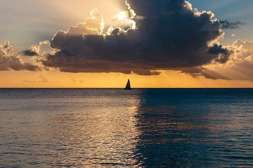 bóg stworzył świat ocean-sunset-1549556__340